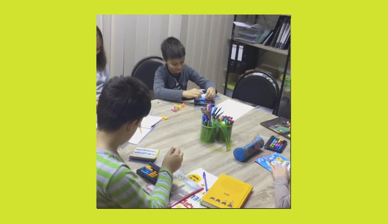 Групповое занятие по динамическому чтению для детей 9-11 лет.